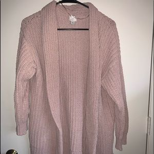 Salmon color knitted Cardigan